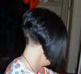 haircuts with weight line in back high line shaved nape short bob cuts pinterest high
