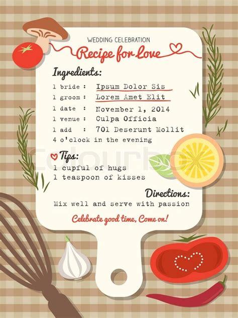design love fest recipes rezept f 252 r liebe kreative hochzeitseinladung stock