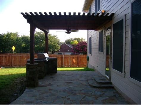 pergola with ceiling fan by dh landscape design
