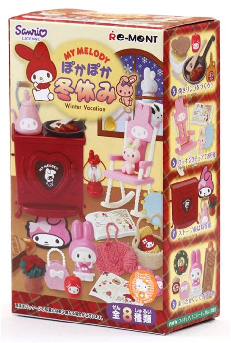 My Melody Floral Re Ment Box No 5 my melody winter vacation re ment miniature blind box re