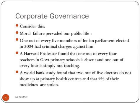 Moral Failings Mba by Corporate Govenrance Mba