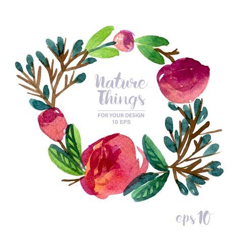 watercolor logo tutorial illustrator floral wreath watercolor effect vector free download
