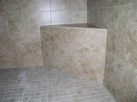 tiled shower with bench tiled shower seat bench made from cement mortar tile your world