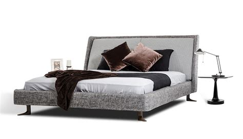 Fabric Platform Bed with Modrest Clooney Modern Grey Fabric Platform Bed