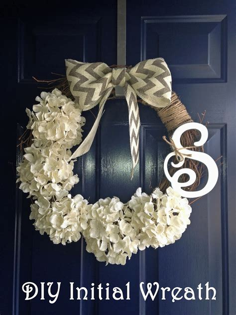 diy wreath ideas project diy initial wreath bless er house