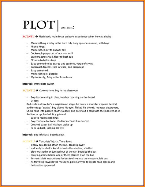 book outline template 10 template of a novel g unitrecors