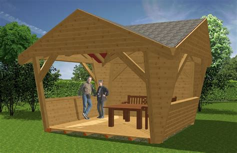 Pavillon Holz by Pavillion Aus Holz Garten Pavillions Bauen Novum Carport
