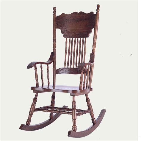 wooden living room chairs ameircan rocking chair carved oak wood living room
