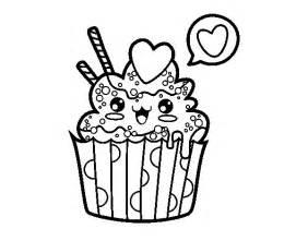 cupcake coloré disegno di cupcake kawaii da colorare acolore