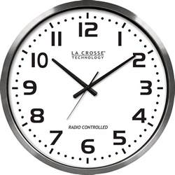 wall watch la crosse 20in atomic analog wall clock www kotulas com