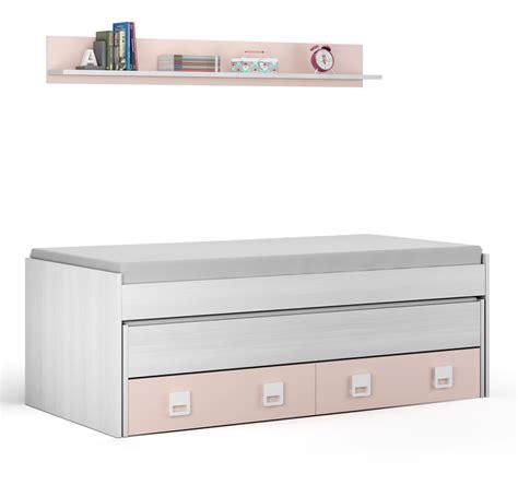cama nido blanca   rosa pastel