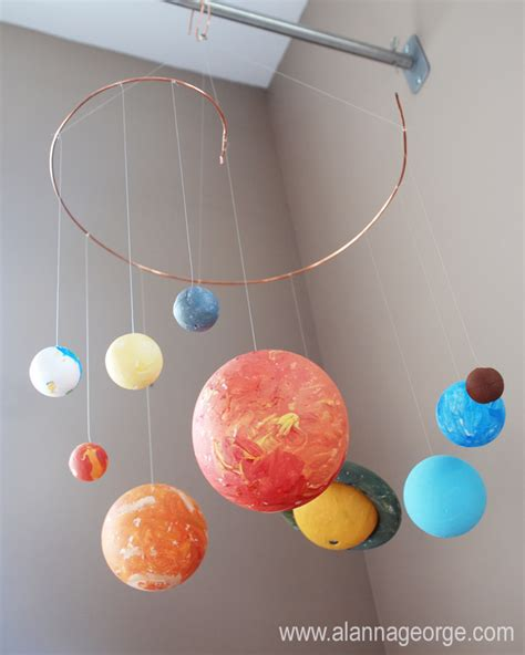 Handmade Solar System - planet mobile archives alanna george the craft nest