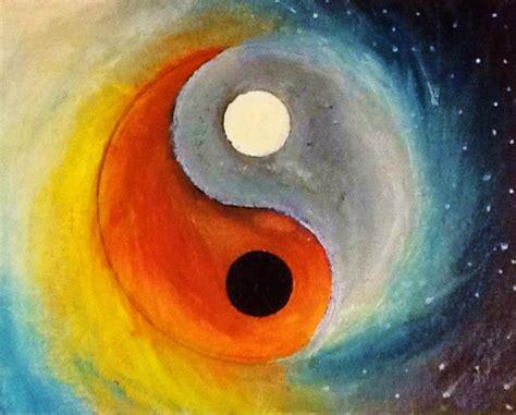 acrylic paint sun sun an moon yin yang acrylic painting by a rushlow