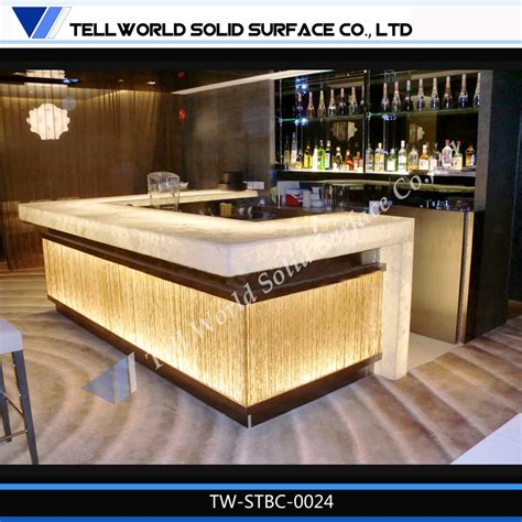 bar counter 2016 hot sales bar counter led wine bar counter artificial