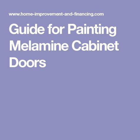 Painting Melamine Cabinet Doors The 25 Best Painting Melamine Ideas On Pinterest Paint Ikea Furniture Ikea Paint And Cheap