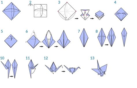 Steps To An Origami Crane - origami crane crafts origami