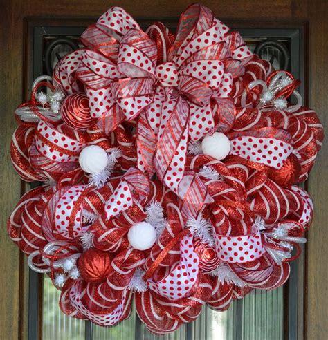 mesh wreath and white deco mesh wreath deco mesh