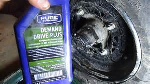 how to drain and replace hub oil on a polaris sportsman