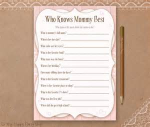 who knows best card printable baby shower