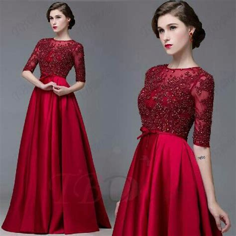 Dress Span Brukat jual gaun pesta dress longdress brukat prancis