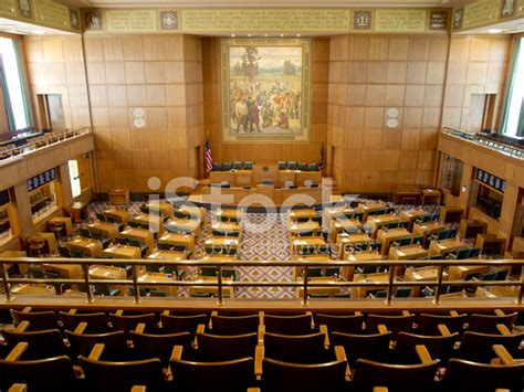 oregon house of representatives interior oregon house of representatives state capitol chairs up stock photos