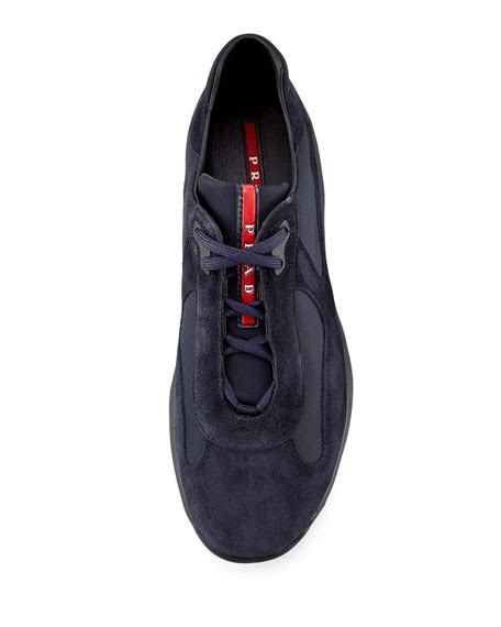 Prad Org Address Search Prada Americas Cup Suede Sneaker