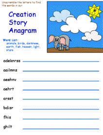 themes in the creation story creation story activity sheets mini books etc bible