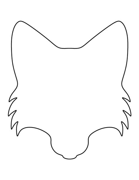 template of a fox printable fox template