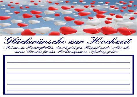 Hochzeitsartikel Auf Rechnung by Ballonflugkarten Gl 252 Ckw 252 Nsche Zur Hochzeit 10 St 252 Ck Hs