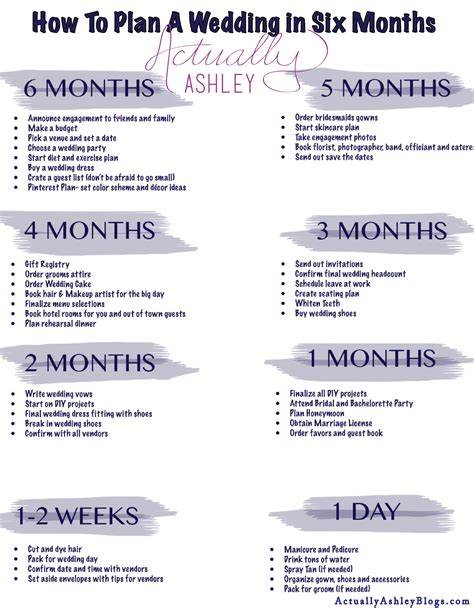 wedding planning timeline wedding planning how to plan a wedding in six months