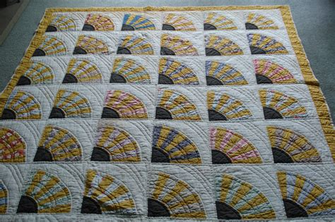 Traditional patchwork quilt welsh quilts welsh patchwork fan quilt the little patchwork