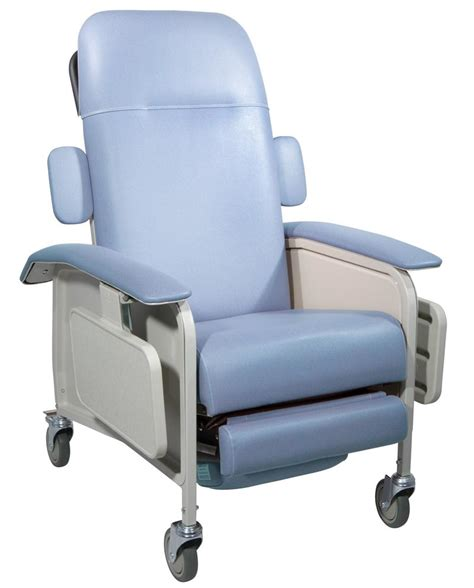 reclining medical chair clinical care blue ridge geri chair recliner by drive medical