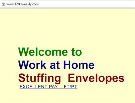 work at home envelopes financial independent