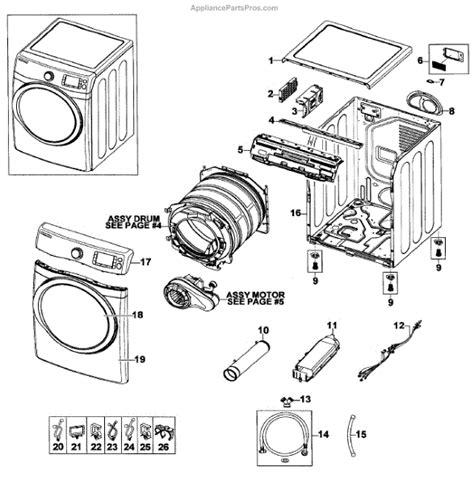 samsung dryer parts diagram parts for samsung dv520aep xaa 0000 assy parts