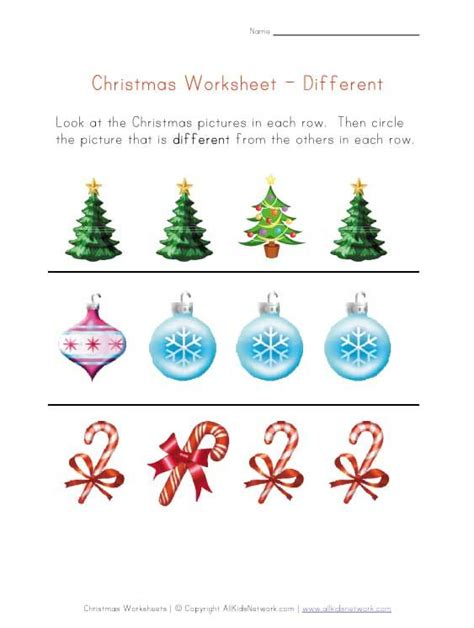 christmas activity forwork worksheet recognize different things pinned by pediastaff visit http