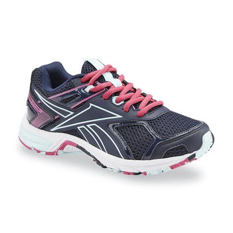 wide width running shoes womens reebok s quickchase memorytech blue pink running