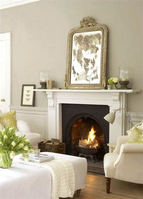 white fireplace in bedroom decor