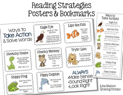 printable bookmarks with reading strategies reading strategy freebie growing firsties