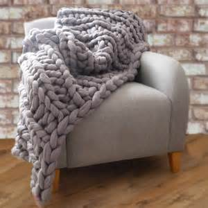 yarnscombe chunky hand knitted throw by lauren aston notonthehighstreet com