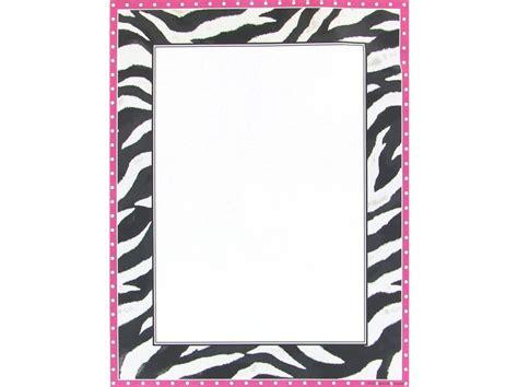 zebra pattern frame light pink zebra pattern border clip art clipart best