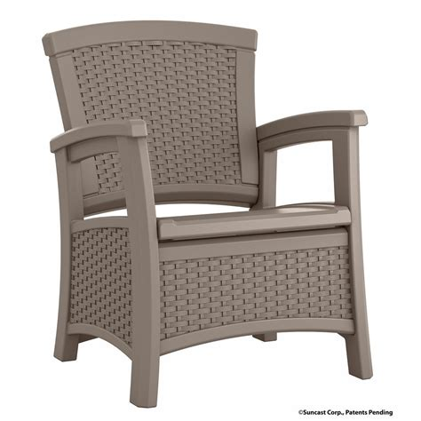 plastic lounge chairs home depot suncast elements resin outdoor lounge chair with storage