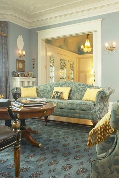 Light Blue And Gold Living Room by How To Decorate A Living Room With Soft Blue Gold Curtains