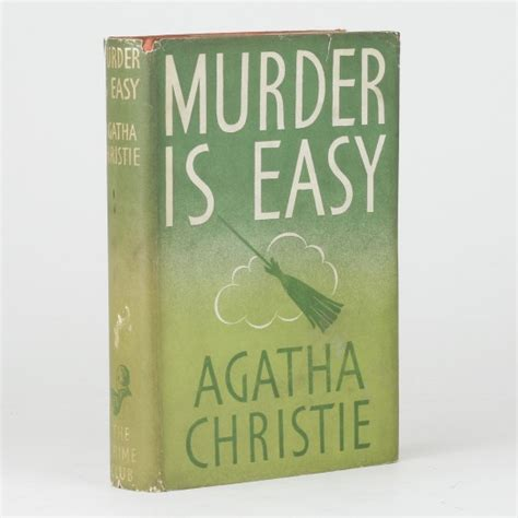 murder is easy agatha murder is easy by christie agatha jonkers rare books