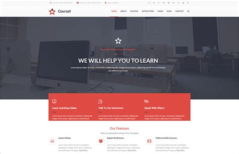 15 Best Educational Website Templates Free Responsive Themes Course Website Template