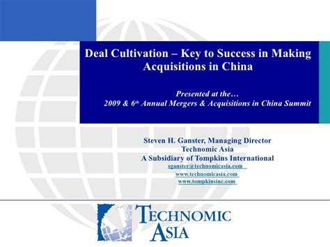 Mergers And Acquisitions Ppt For Mba by Mergers And Acquisitions In China 2009