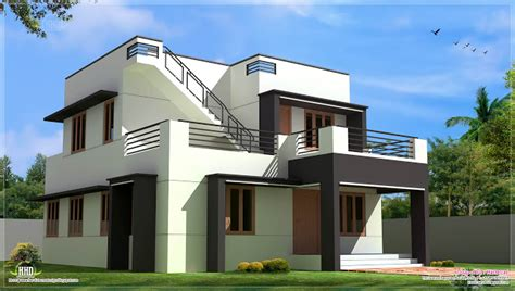 home design companies in india two floor houses with 3rd floor serving as a roof deck