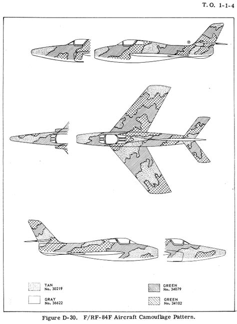 republic f 84f thunderstreak southeast asia camouflage color profile and paint guide