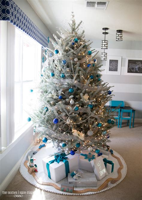christmas trees tourquoise and silver the homes i made house of turquoise