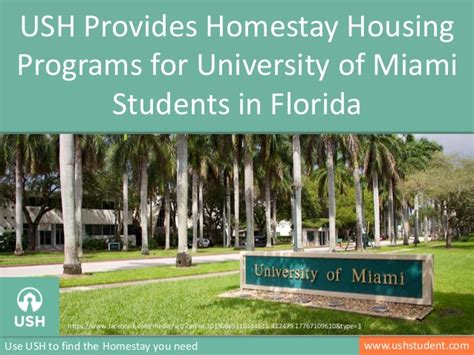 university of miami housing homestay for university of miami students in florida