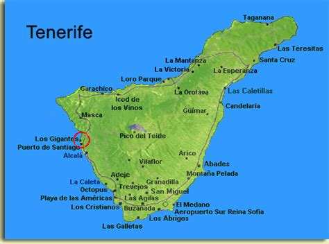 tenerife on a world map image gallery tenerife map